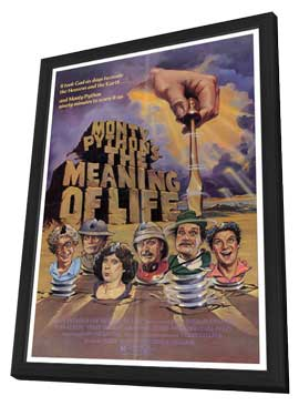 Monty Python's The Meaning of Life - 27 x 40 Movie Poster - Style A - in Deluxe Wood Frame