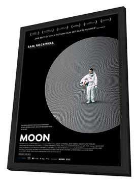 Moon - 27 x 40 Movie Poster - German Style A - in Deluxe Wood Frame