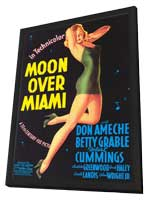 Moon over Miami - 11 x 17 Movie Poster - Style A - in Deluxe Wood Frame