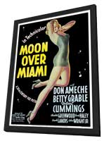 Moon over Miami - 27 x 40 Movie Poster - Style B - in Deluxe Wood Frame