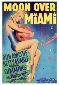 Moon over Miami - 43 x 62 Movie Poster - Bus Shelter Style A