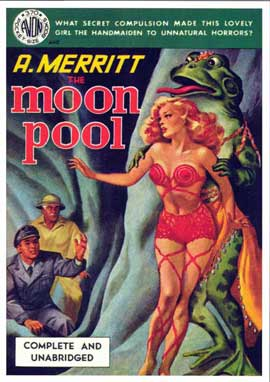Moon Pool - 11 x 17 Retro Book Cover Poster