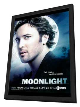 Moonlight (TV) - 11 x 17 TV Poster - Style A - in Deluxe Wood Frame