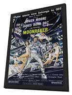 Moonraker - 27 x 40 Movie Poster - Australian Style A - in Deluxe Wood Frame