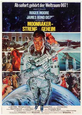 Moonraker - 11 x 17 Movie Poster - German Style A