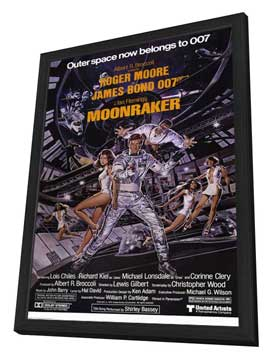 Moonraker - 11 x 17 Movie Poster - Style D - in Deluxe Wood Frame