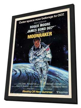 Moonraker - 11 x 17 Movie Poster - Style H - in Deluxe Wood Frame
