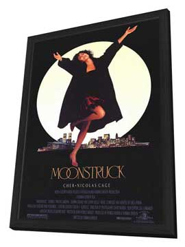 Moonstruck - 11 x 17 Movie Poster - Style A - in Deluxe Wood Frame