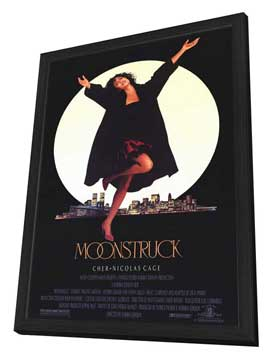 Moonstruck - 27 x 40 Movie Poster - Style A - in Deluxe Wood Frame
