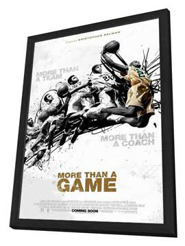More Than a Game - 11 x 17 Movie Poster - Style A - in Deluxe Wood Frame