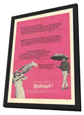 Morgan: A Suitable Case for Treatment - 27 x 40 Movie Poster - Style A - in Deluxe Wood Frame
