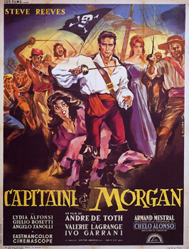 Morgan, the Pirate - 11 x 17 Movie Poster - French Style A