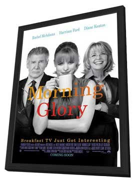 Morning Glory - 11 x 17 Movie Poster - Style A - in Deluxe Wood Frame