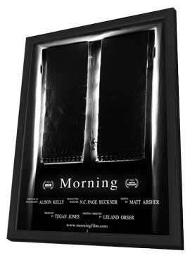 Morning - 11 x 17 Movie Poster - Style B - in Deluxe Wood Frame