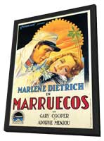 Morocco - 11 x 17 Movie Poster - Spanish Style A - in Deluxe Wood Frame