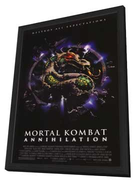 Mortal Kombat 2: Annihilation - 11 x 17 Movie Poster - Style B - in Deluxe Wood Frame