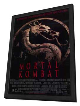 Mortal Kombat 1: The Movie - 11 x 17 Movie Poster - Style B - in Deluxe Wood Frame