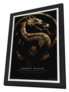 Mortal Kombat 1: The Movie - 27 x 40 Movie Poster - Style C - in Deluxe Wood Frame
