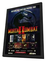 Mortal Kombat (VG) - 11 x 17 Movie Poster - Style A - in Deluxe Wood Frame