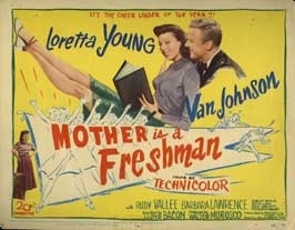 Mother Is a Freshman - 22 x 28 Movie Poster - Half Sheet Style A