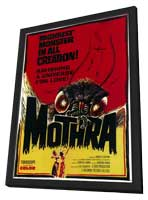 Mothra - 11 x 17 Movie Poster - Style A - in Deluxe Wood Frame