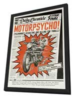 Motor Psycho - 27 x 40 Movie Poster - Style A - in Deluxe Wood Frame
