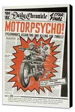 Motor Psycho - 27 x 40 Movie Poster - Style A - Museum Wrapped Canvas
