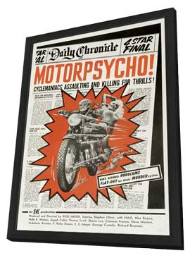 Motor Psycho - 11 x 17 Movie Poster - Style A - in Deluxe Wood Frame