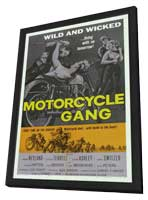 Motorcycle Gang - 11 x 17 Movie Poster - Style A - in Deluxe Wood Frame