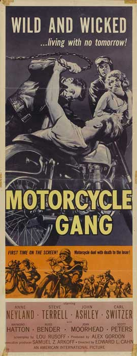 Motorcycle Gang - 14 x 36 Movie Poster - Insert Style A
