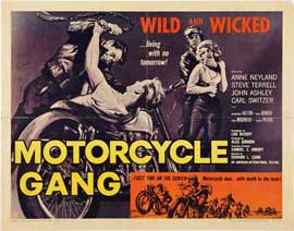 Motorcycle Gang - 22 x 28 Movie Poster - Half Sheet Style A