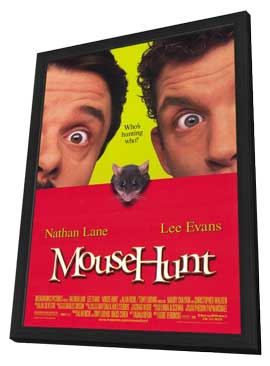 Mouse Hunt - 11 x 17 Movie Poster - Style B - in Deluxe Wood Frame