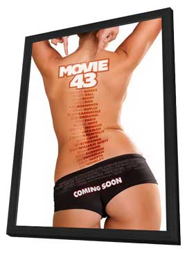 Movie 43 - 11 x 17 Movie Poster - Style B - in Deluxe Wood Frame