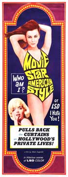Movie Star, American Style or; LSD, I Hate You - 14 x 36 Movie Poster - Insert Style A