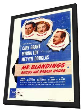 Mr. Blandings Builds His Dream House - 11 x 17 Movie Poster - Style A - in Deluxe Wood Frame