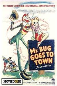 Mr. Bug Goes to Town - 43 x 62 Movie Poster - Bus Shelter Style A