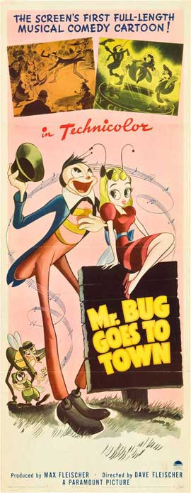 Mr. Bug Goes to Town - 14 x 36 Movie Poster - Insert Style A
