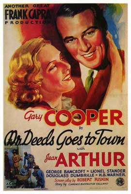 Mr. Deeds Goes to Town - 27 x 40 Movie Poster - Style A