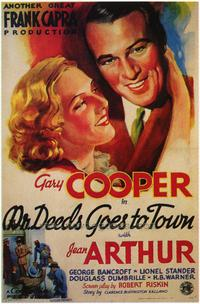 Mr. Deeds Goes to Town - 43 x 62 Movie Poster - Bus Shelter Style A