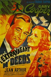 Mr. Deeds Goes to Town - 11 x 17 Movie Poster - French Style A