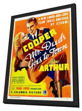 Mr. Deeds Goes to Town - 27 x 40 Movie Poster - Style B - in Deluxe Wood Frame