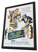 Mr. Hobbs Takes a Vacation - 11 x 17 Movie Poster - Style A - in Deluxe Wood Frame