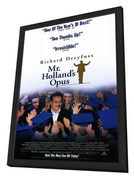 Mr. Holland's Opus - 11 x 17 Movie Poster - Style B - in Deluxe Wood Frame