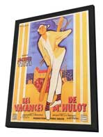 Mr. Hulot's Holiday - 11 x 17 Movie Poster - French Style A - in Deluxe Wood Frame