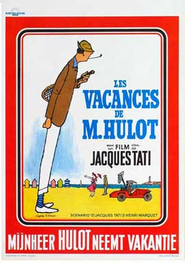 Mr. Hulot's Holiday - 27 x 40 Movie Poster - Belgian Style A