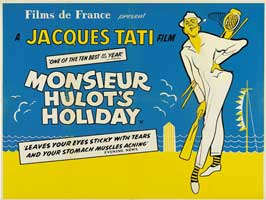 Mr. Hulot's Holiday - 43 x 62 Movie Poster - French Style B
