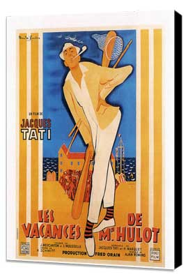 Mr. Hulot's Holiday - 27 x 40 Movie Poster - French Style A - Museum Wrapped Canvas