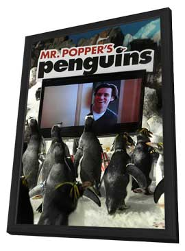 Mr. Popper's Penguins - 27 x 40 Movie Poster - Style B - in Deluxe Wood Frame