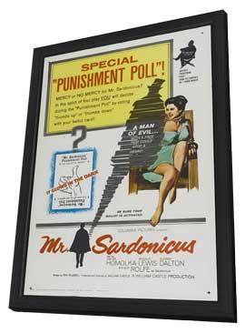 Mr. Sardonicus - 11 x 17 Movie Poster - Style A - in Deluxe Wood Frame