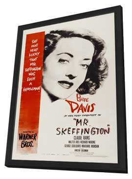 Mr. Skeffington - 27 x 40 Movie Poster - Style A - in Deluxe Wood Frame